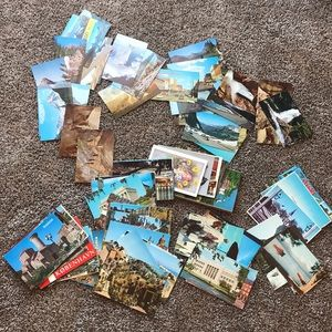 100+vintage postcard bundle